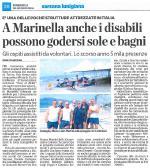 la  spiaggia per i diversamente abili a Marinella estate 2016